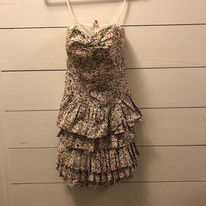 J. Crew strapless floral dress